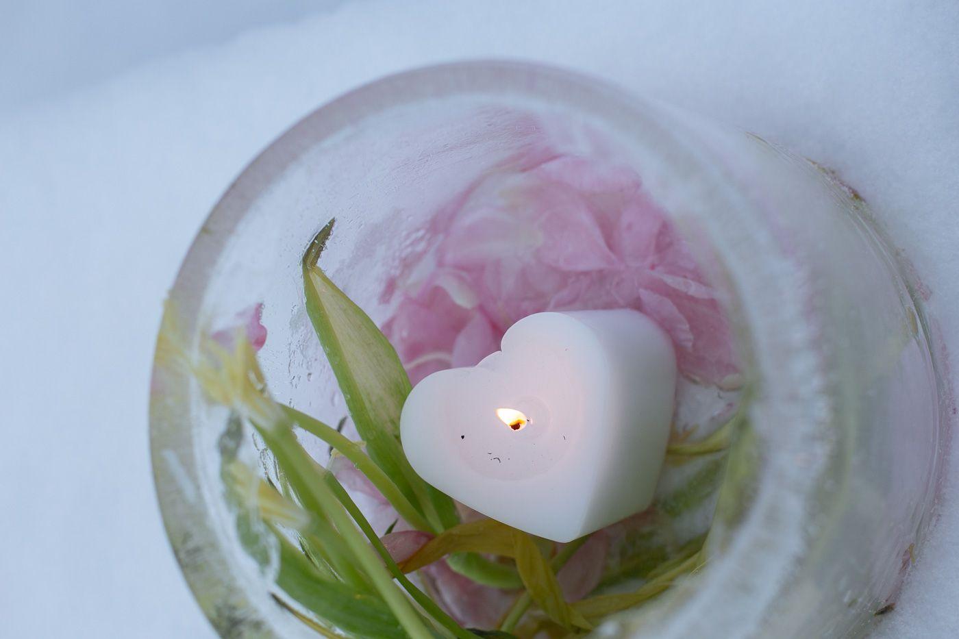 Kukkajäälyhty – sydäntalven iloa